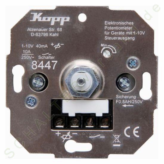 Kopp potentiemeter elektronische voor aparaten met stuurspanning 1-10v