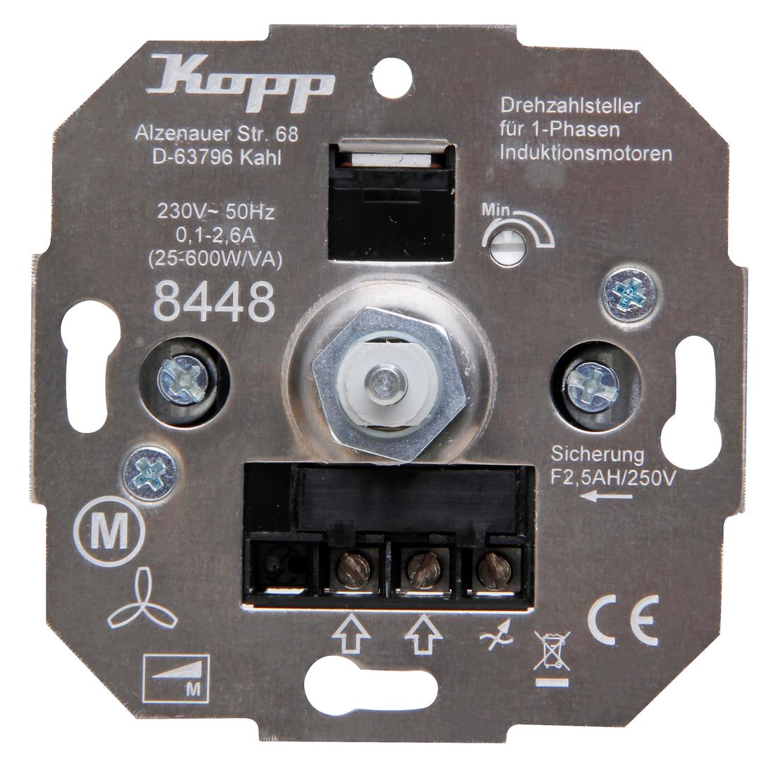 Kopp snelheidsregelaar met draaischakelaar 25-600W/VA