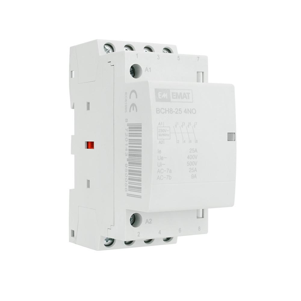 EMAT magneetschakelaar 230V 25A 4 maak en 0 verbreek (85010006)