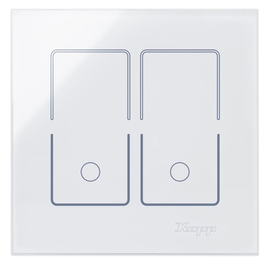 Kopp HKi8 glas sensor 1-voudig voor serieschakelaar wit