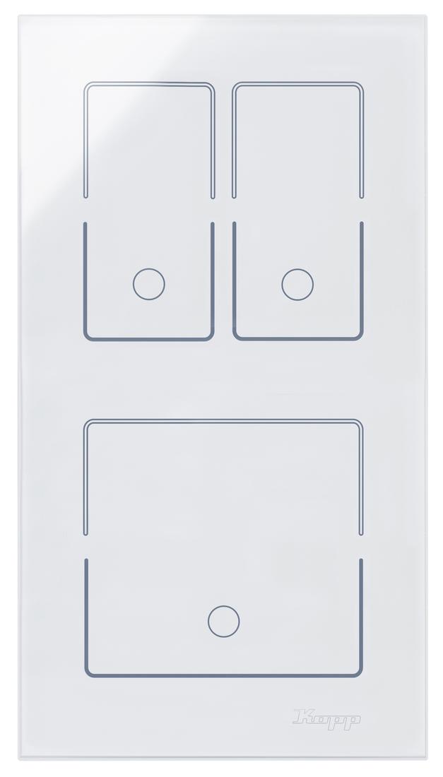 Kopp HKi8 glas sensor 2-voudig voor 1x dubbele schakelaar 1x schakelaar