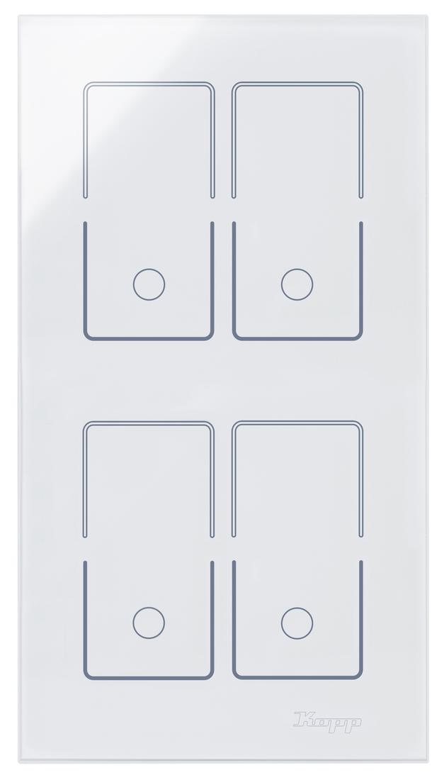 Kopp HKi8 glas sensor 2-voudig voor 2x dubbele schakelaar wit