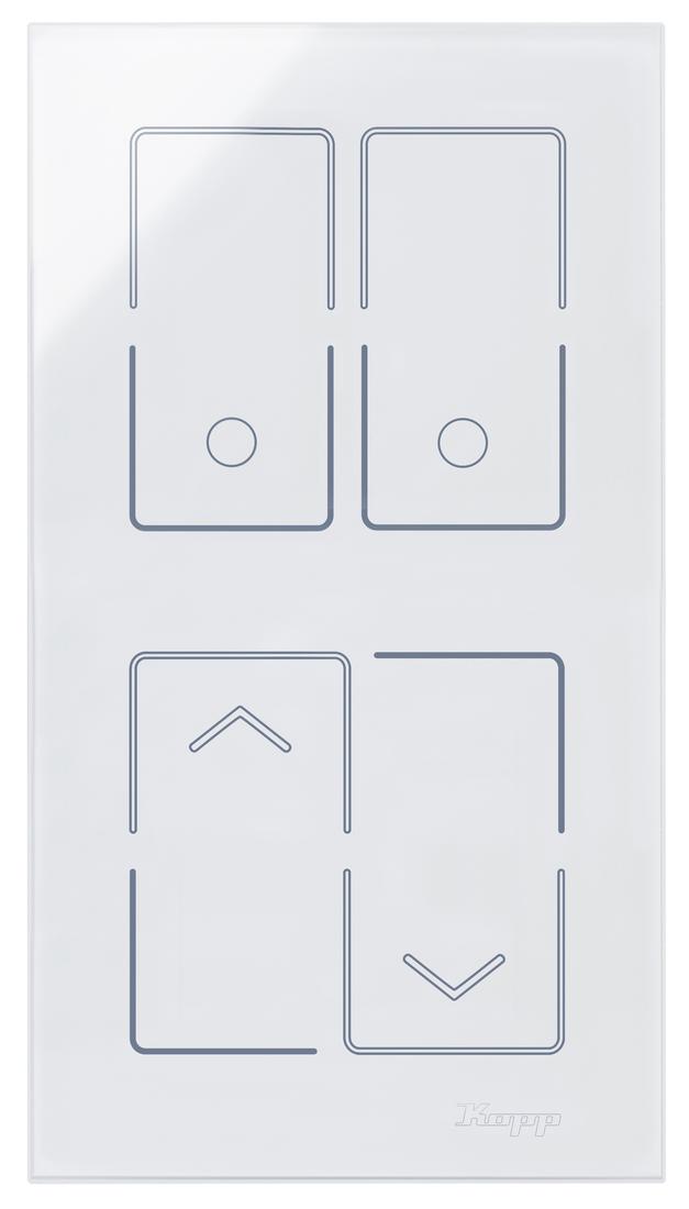 Kopp HKi8 glas sensor 2-voudig voor 1x dubbele schakelaar 1x jaloezieschakelaar
