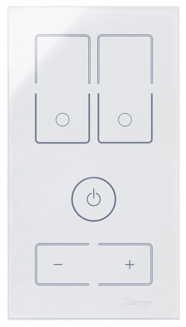 Kopp HKi8 glas sensor 2-voudig voor 1x dubbele schakelaar 1x dimmer