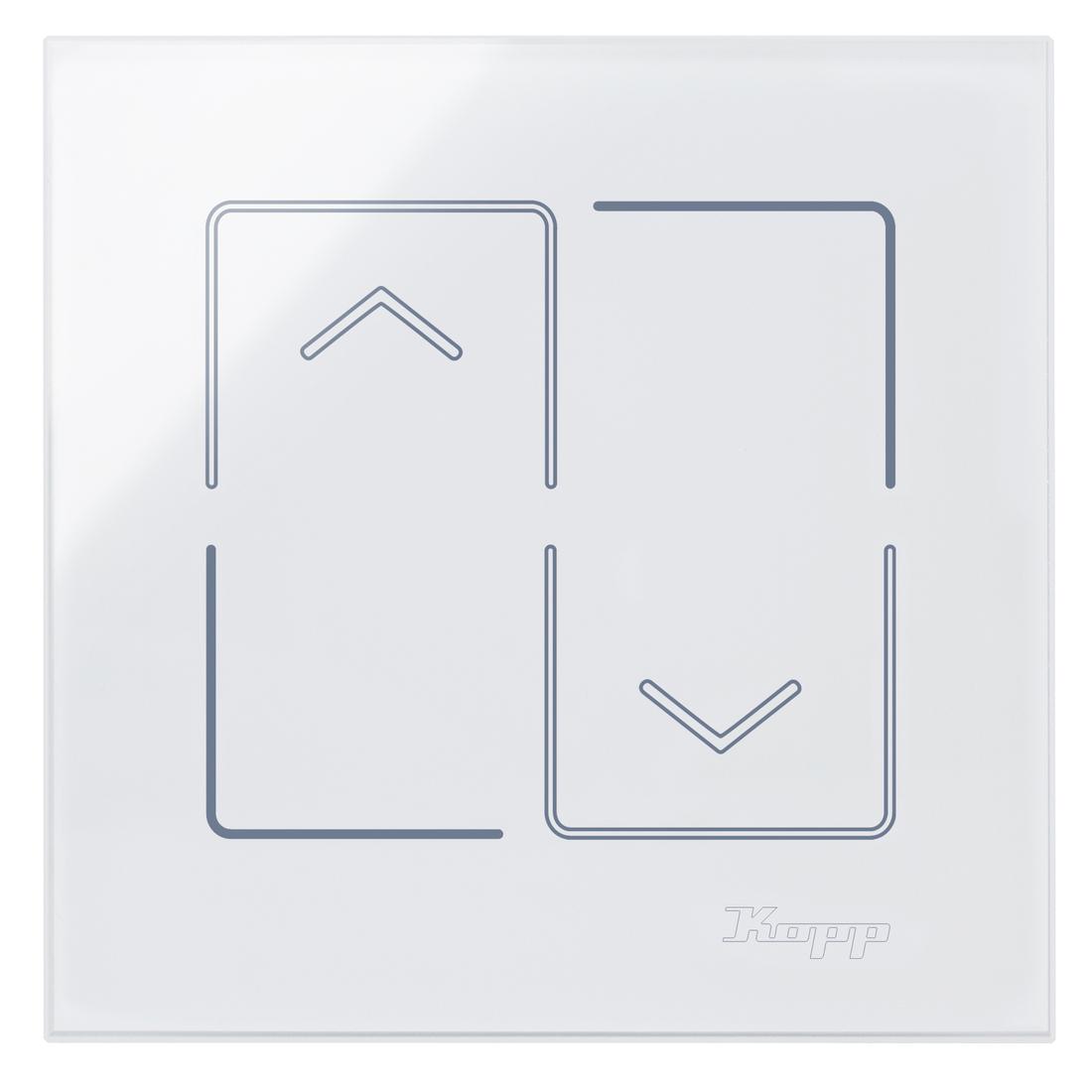 Kopp HKi8 glas sensor 1-voudig voor jaloezieschakelaar wit