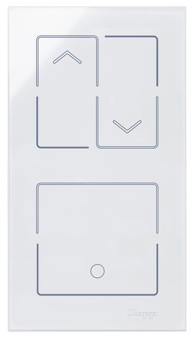 Kopp HKi8 glas sensor 2-voudig voor 1x jaloezieschakelaar 1x schakelaar