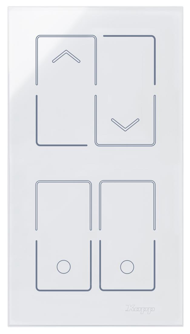 Kopp HKi8 glas sensor 2-voudig voor 1x jaloezieschakelaar 1x dubbele