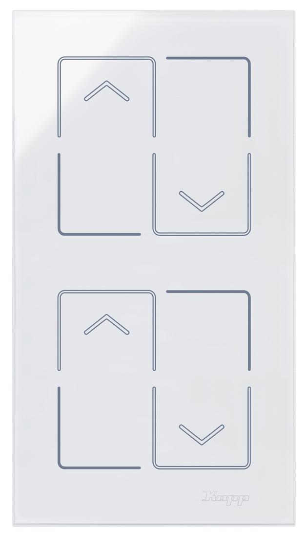 Kopp HKi8 glas sensor 2-voudig voor 2x jaloezieschakelaar wit