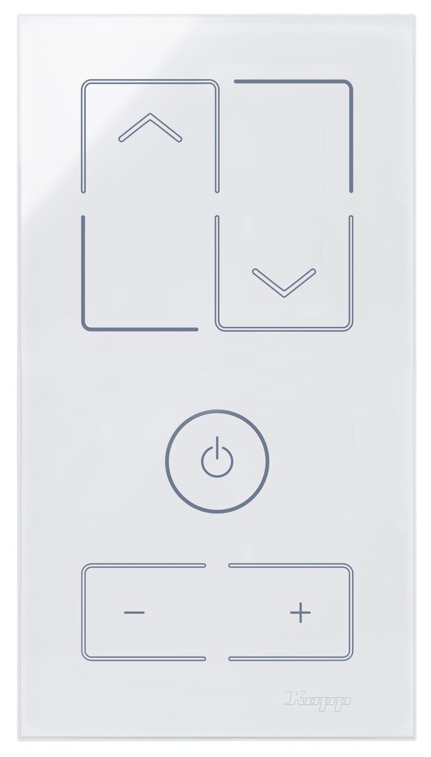 Kopp HKi8 glas sensor 2-voudig voor 1x jaloezieschakelaar 1x dimmer