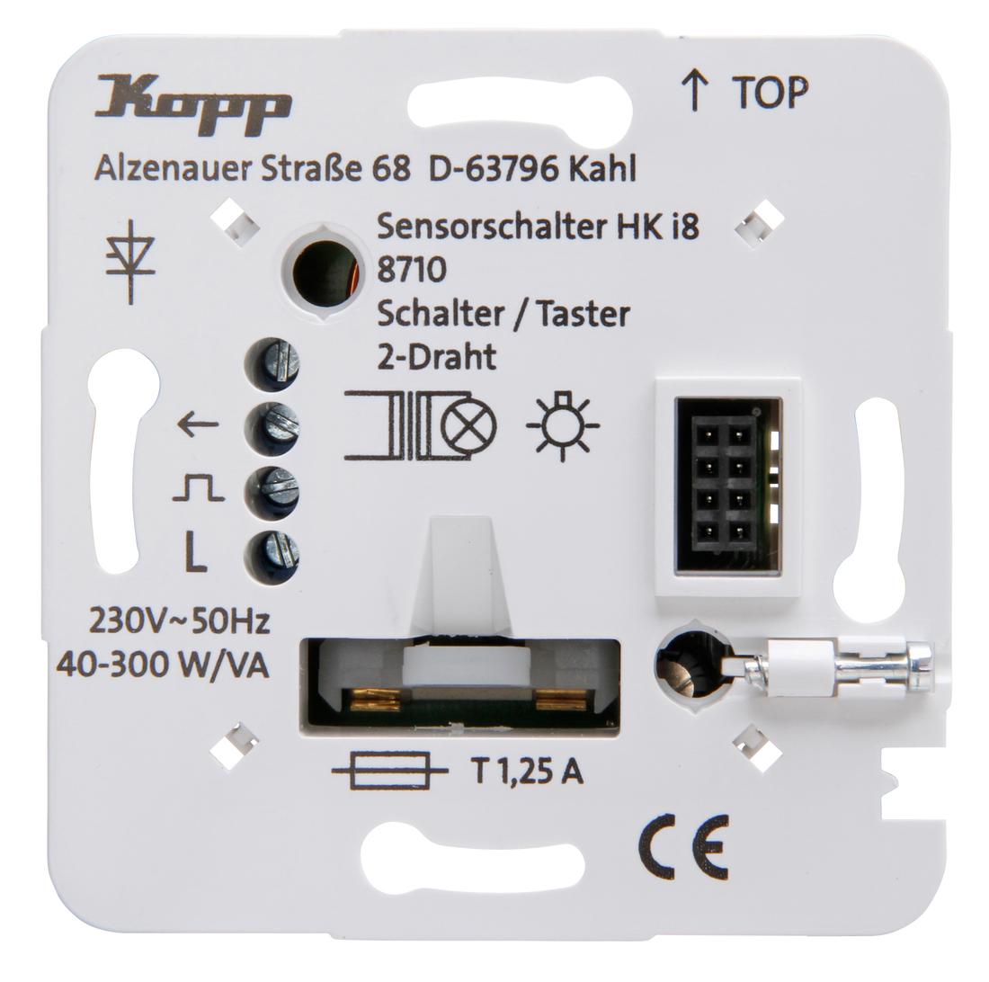 Kopp HKi8 techniek schakelaar/drukschakelaar 2-draads aansluiting