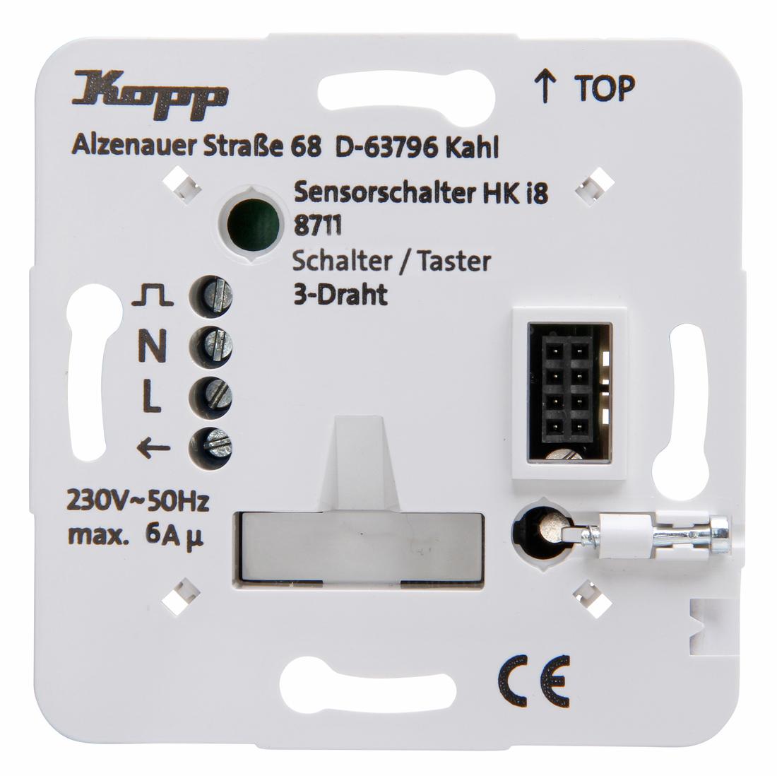 Kopp HKi8 techniek schakelaar/drukschakelaar/geschikt voor wisselschakeling 3-draads