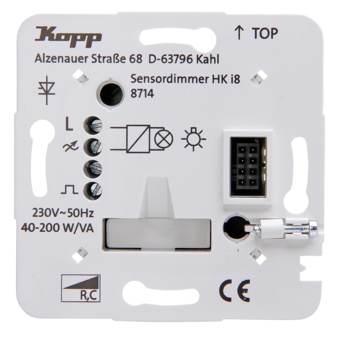 Kopp HKi8 techniek dimmer voor electronische trafo voor gloei- en halogeenlampen