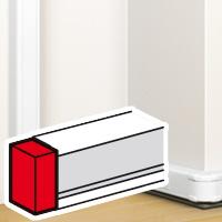 Legrand DLP snap-on eindschot wit 075612