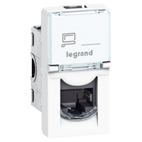 Legrand Mosaic connector cat.6A STP RJ45 1 module - wit (076573)