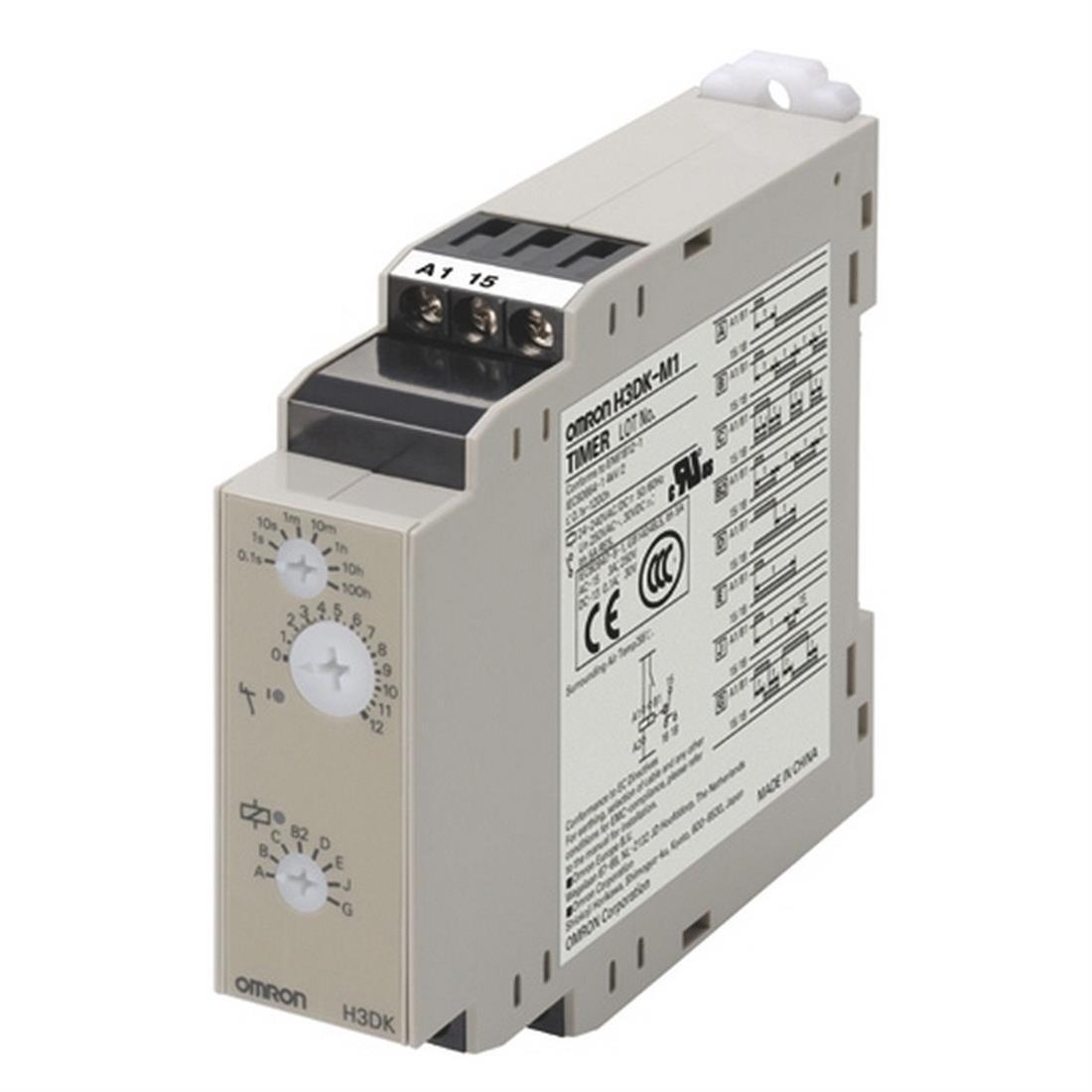 Omron tijdrelais multirange met 8 functies en multivoltage 24-240VAC/DC (H3DK-M)