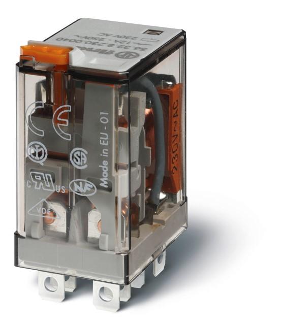 Finder relais 2 wisselcontacten 12A 230V (56.32.8.230.0054)