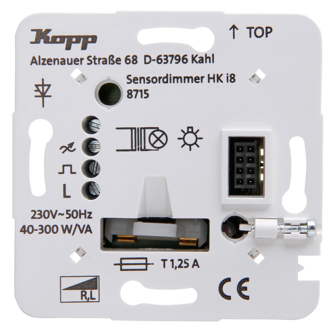 Kopp HKi8 techniek dimmer voor gewikkelde trafos voor gloei- en halogeenlampen
