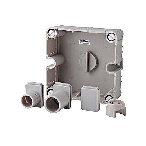 ABL aftakdoos onderbak universeel incl. inzetstukken grijs - 100x100mm