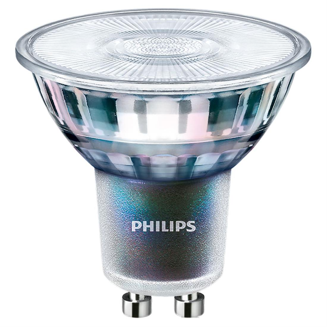 PHILIPS GU10 led lamp dimbaar 5.5W-50W warmwit 2700 kelvin 36gr CRI90