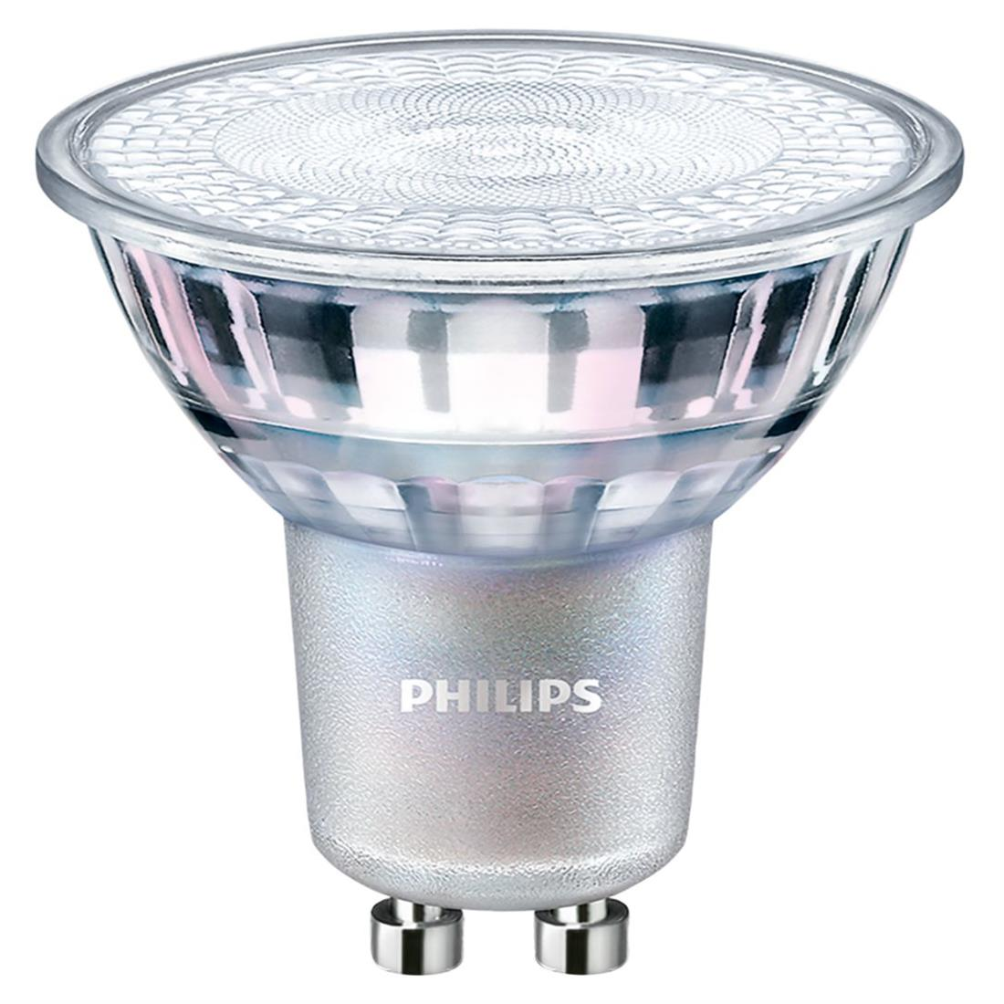 PHILIPS GU10 led lamp dimbaar 4.9W-50W wit 3000 kelvin 36gr CRI90
