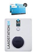 LS24 laadpaal met pasjessysteem, mode 3, type 2, 32A(22 kW), 3-fase met Mennekes wcd