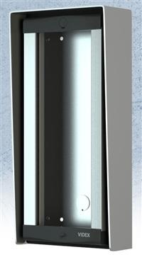 Videx Opbouw frame met montage profiel/ regenkap voor 2M/ 1R