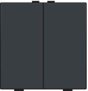 Niko bedieningstoets 2-voudig - Home Control antraciet  (122-51002)