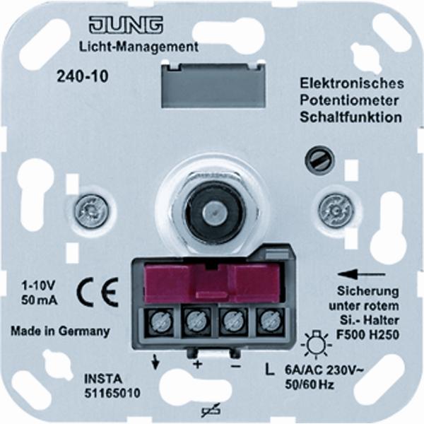 JUNG drukschakelaar potentiometer 240-10