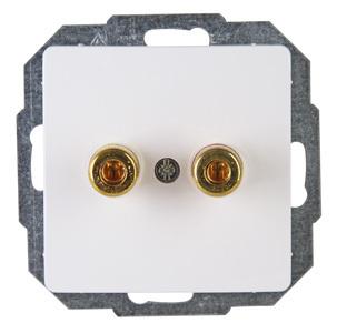 Kopp HK05 luidsprekerstopcontact inbouw wit