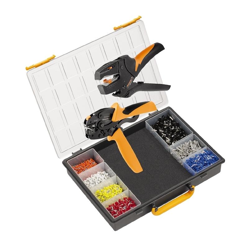 WEIDMULLER   -  Krimptangset Adereindhulzen 0.14 tot 6 mm² Incl. krimp-assortiment met koffer (902868000)