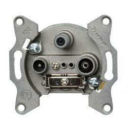 Kopp tv en radio stopcontact inbouw met satalliet geschikt voor digitale toepassing (einddoos) per 2