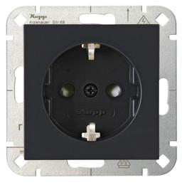 Kopp HK07 wandcontactdoos inbouw met randaarde en kinderbeveiliging 1-voudig - antraciet 940015008