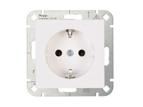 Kopp HK07 wandcontactdoos inbouw met randaarde 1-voudig - wit 949329007