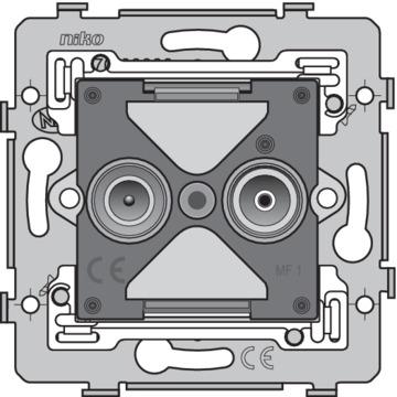 Niko Basiselement - Antennecontactdoos 2-voudig 170-79501