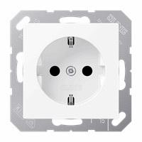 JUNG stopcontact met randaarde 1 voudig - A500 sneeuwwit (A1520NBFWWM)