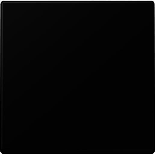 JUNG A500 stuurafdekking slagvast standaard - zwart mat (A 1700 BF SWM)