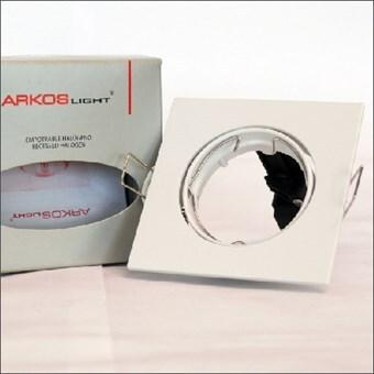 Arkos Inbouwspot vierkant kantelbaar wit (A243W)