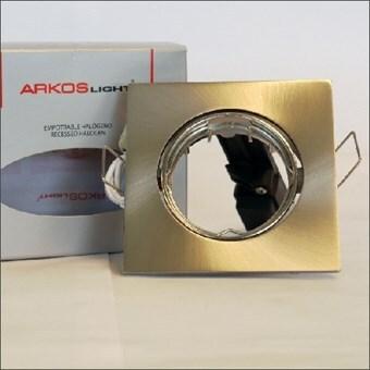 Arkos Inbouwspot vierkant kantelbaar chroom geschuurd (A244NSBAS)