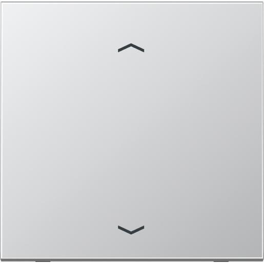 """JUNG LS990 stuurafdekking standaard """"pijlen"""" - aluminium (AL 1700 P)"""