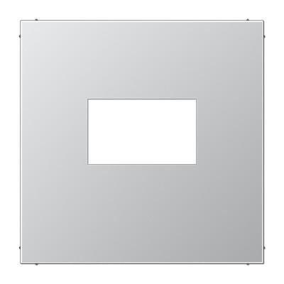 JUNG Afdekking LS range voor USB laadcontactdoos - aluminium metaal mat (AL1969USB)