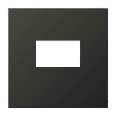 JUNG Afdekking LS range voor USB laadcontactdoos - antraciet metaal mat (AL1969USBAN)