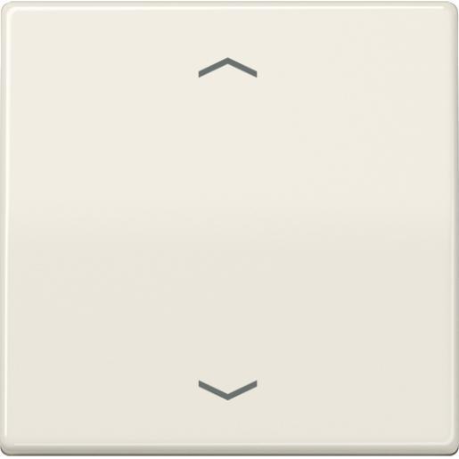 """JUNG AS500 stuurafdekking standaard """"pijlen"""" - crème wit (AS 1700 P)"""