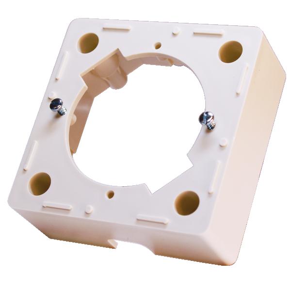 Astro opbouwrand voor contactdozen 80x80 mm wit (610500)