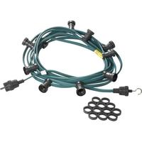 Jager-direkt Aansluitklare prikkabel 30 fittingen 2x1,5 mm2 30 m groen