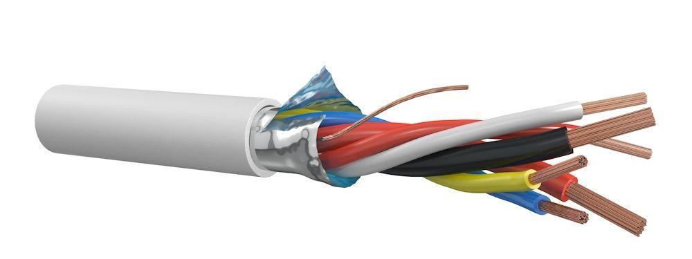Cable Partners alarmkabel 6x0,22 mm² Cca-s1,d0,a1 - per rol 100 meter