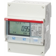 ABB Componenten kWh meter System pro M compact 3f indirect 6A, 230/400V AC klasse B, puls uitgang, MID