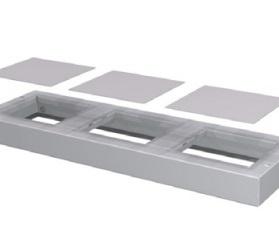 Bodemplaat R1600, 1600x350 mm (BxD)