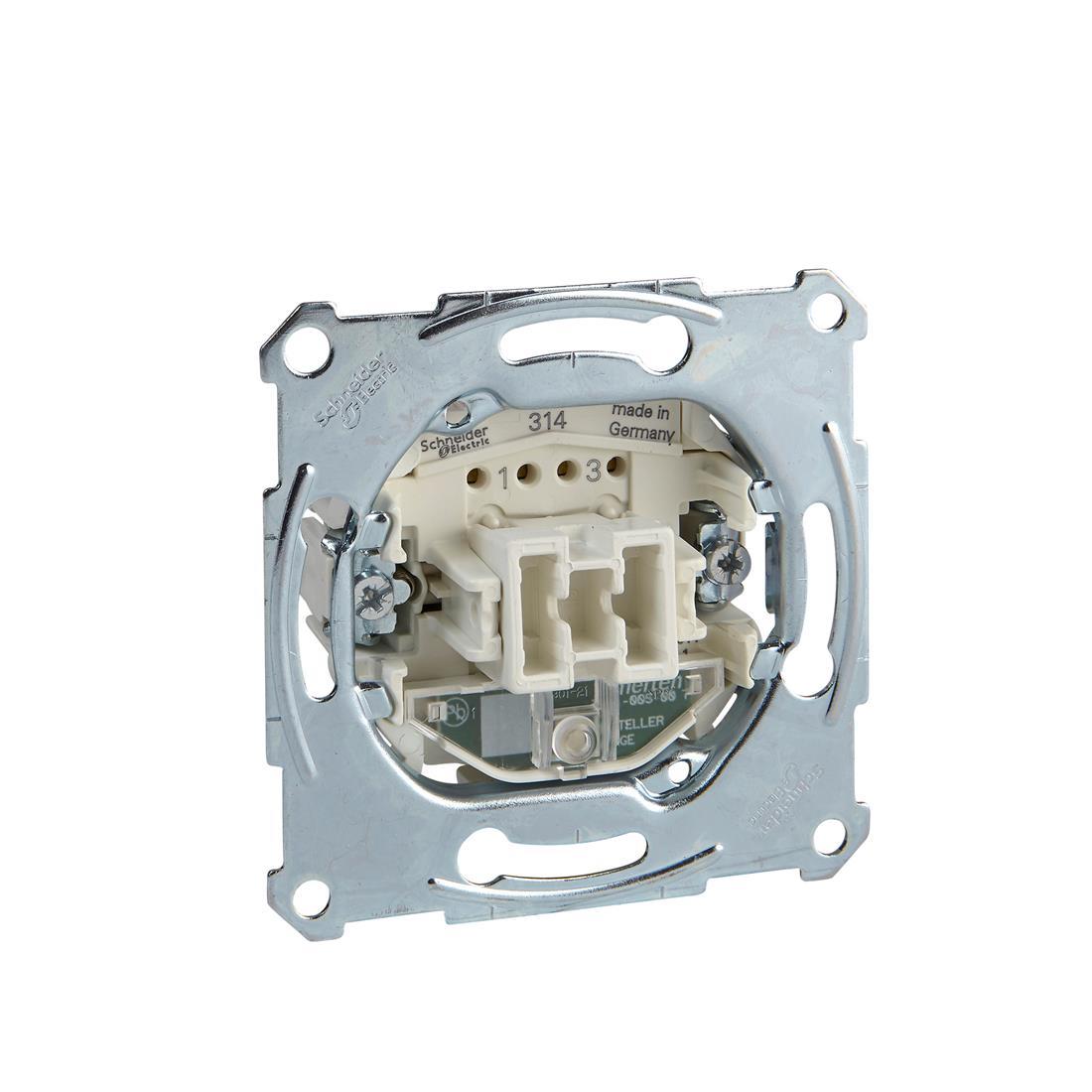 Schneider-Merten uit-controleschakelaarsokkel, 2-polig 10 AX, AC 250 V met insteekklemmen (MTN3102-0000)