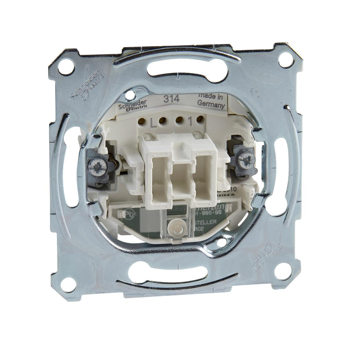 Schneider-Merten uit/wisselcontroleschakelaarsokkel 1-polig 10 AX, AC 250 V met insteekklemmen (MTN3106-0000)