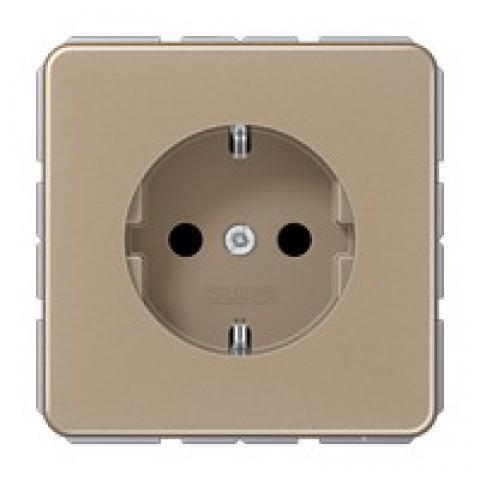 Jung (Hateha) Wandcontactdoos met beschermingscontact 16A 250V - CD500 goud (CD1520NGB)